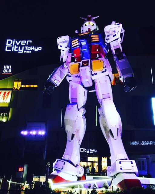 Robot Gundam, Odaiba Diver City Tokyo